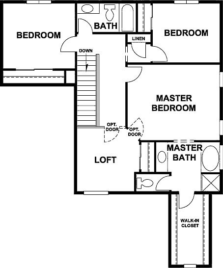 Morgan floor plan upper option
